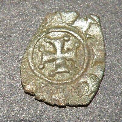 Crusader Cross Antique Coin 1200's Europe Medieval Ancient Templar Holy Grail