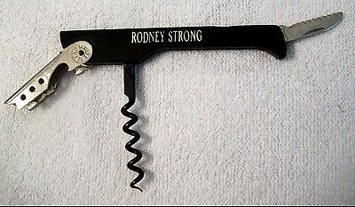 Vtg RODNEY STRONG Knife Corkscrew/ Bottle Cap Opener Bartender Tool Italy  #10