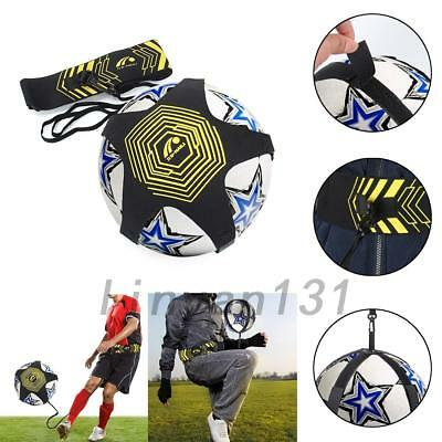 1X Football Soccer Kick And Throw Trainer Solo Training Aid Adjustable Waist AU