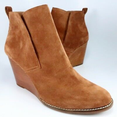 e31dd14070af NEW - Lucky Brand Yoniana Booties Womens Size 13M Rust-Brown Suede Ankle  Boots