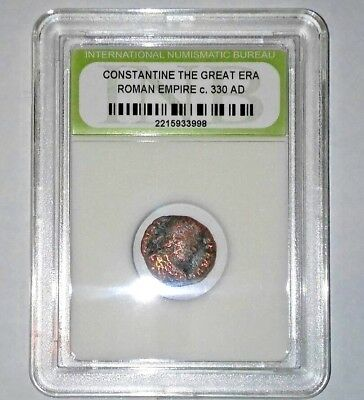 Slabbed Ancient Imperial Roman Constantine the Great Era - Nice Coin c 330 AD #8