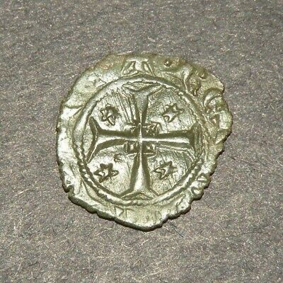 Crusader Cross Antique Coin 1200's Europe Medieval Ancient Templar Fleur Stars