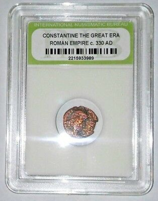 Slabbed Ancient Imperial Roman Constantine the Great Era - Nice Coin c 330 AD #9