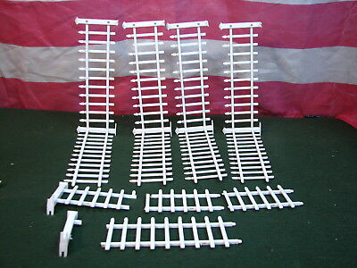 8 ++ Pieces Vintage White Picket Fence Section With Extra Pieces Included too