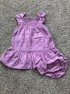 Old Navy Baby Girl Dress With Matching Bloomers 12-18 Months
