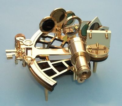 Working Solid Brass Nautical Vintage Sextant Heavy Reproduction Piece