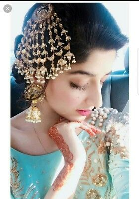 Ethnic Bollywood Women Big Size Party Jhumar Passa Forehead Traditional Jewelry