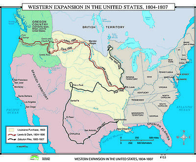 153 Western Expansion In The Us 1804 1807 18300 Picclick - Map-of-us-in-1804