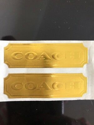COACH Vintage Gold Stickers