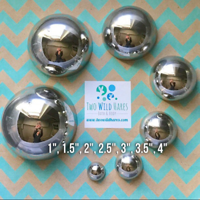 7 Size BATH BOMB Mold Set, Heavy Stainless, Won't Dent Like Others, USA Seller