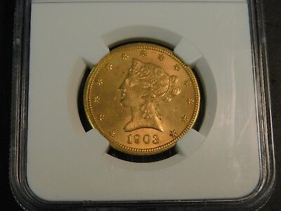 1903-O $10 NGC MS61 - New Orleans Gold - Liberty Eagle - Old US Gold Coin BU