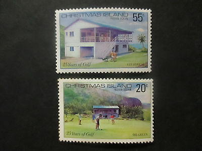 1980  Christmas  Island  -25  Years  Of  Golf  --F/s 2  Stamps   --Mint --A1