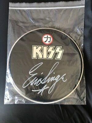 "Kiss Eric Singer Official Autographed 12"" Drumhead"