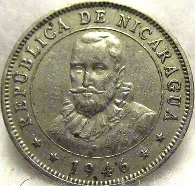 1946 NICARAGUA 10 CENTAVOS ~ In Very Fine Fettle
