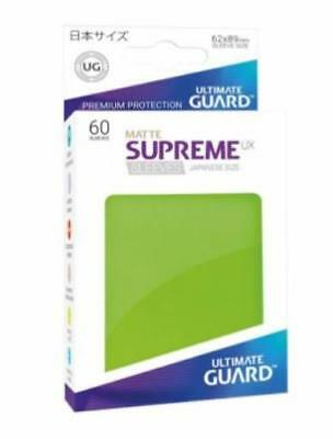 Ultimate Guard Japanese Sleeves Supreme UX - Matte Light Green (60) MINT
