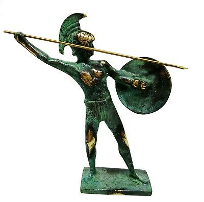Ancient Greek Bronze Museum Statue Replica of Leonidas King of Sparta