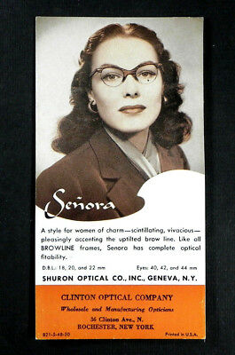 Vintage 1940s EYEGLASSES Optometrist Ophthalmologist advertising blotter SHURON