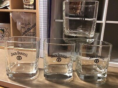 JACK Daniel's 4  Whiskey Glass Low Ball Selling Collection