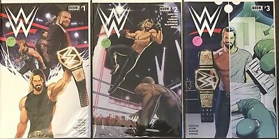 Lot of 9 2017 Boom Comics WWE Comic Books 1 thru 9