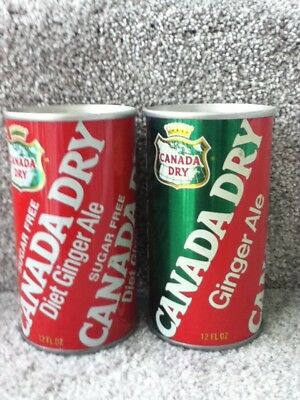 Canada Dry Diet Ginger Ale/Ginger Ale. Straight steel, pull top. No ml listed.