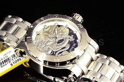 26510 Invicta 52mm Coalition Forces DRAGON LORD Automatic Silver Bracelet Watch