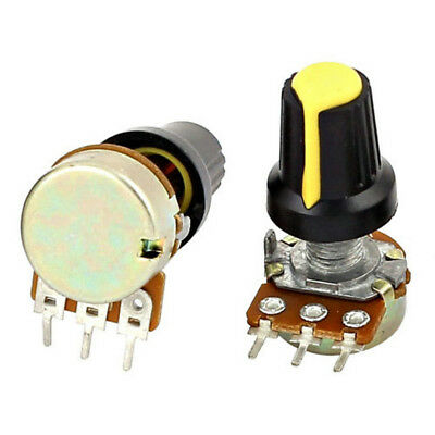 5pcs 10K OHM 3 Terminal Linear Taper Rotary Audio B Type Potentiometer W87