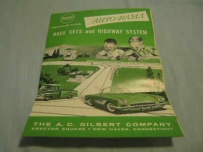 Vintage American Flyer Auto-Rama Race Sets And Highway System 1961 D-2268
