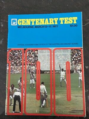 1977 MELBOURNE CENTENARY CRICKET TEST SOUVENIR PUBLICATION AUSTRALIA v ENGLAND