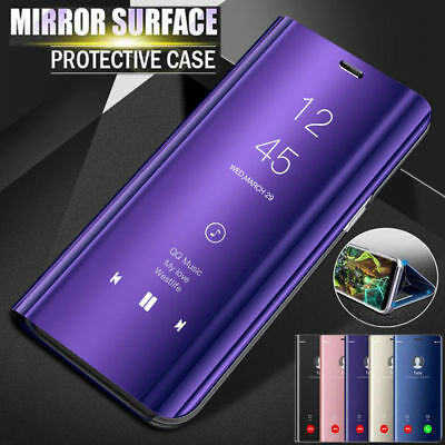 Flip Smart Mirror Case View Capa Cover Stand For Samsung Galaxy S8 S9 Plus Note9
