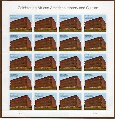 """One Sheet Of 20 African American """""""""""" Usps First Class Forever Postage Stamps"""