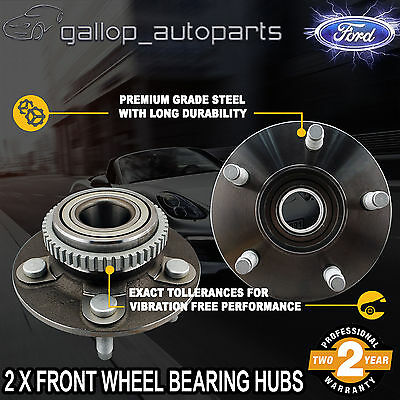 Pair Front Wheel Bearing Hubs for Ford Falcon Fairlane AU I II BA BF Territory