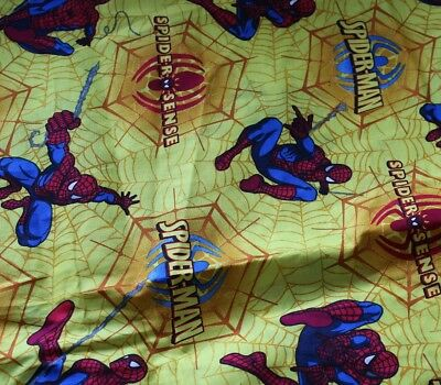 "1 Piece 72"" X 44""  (6Ft) Spider Man Yellow Background    Fabric"