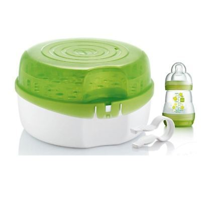 MAM Microwave Baby Bottle Sterilizer Fits 6 Bottles Includes Anti Colic Bottle