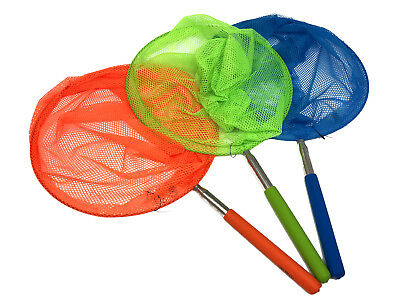 Large Extendable Rod Insect Butterfly Net Mesh Pocket Fishing Fish Catch Kids