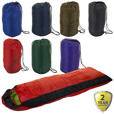Camping Outdoor Sleeping Bag Hiking Case Envelope Fishing Lightweight Warm NEW