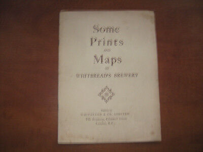 1930s SAMUEL WHITBREAD BREWERY HISTORY BOOKLET INCL. PRINTS & MAPS RARE ITEM
