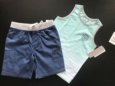 CALVIN KLEIN BOYS 2 PIECE SET. Age 4T. Brand New. 100% Auth. FANTASTIC GIFT.