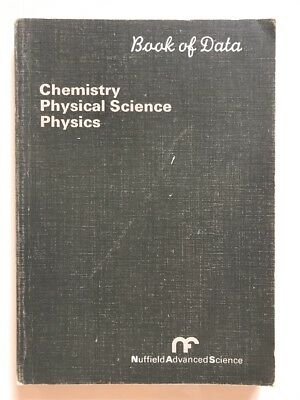 Book Of Data Chemistry Physical Science Physics