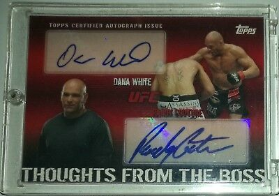 Topps Ufc 2010 Thoughts From The Boss Randy Couture Dana White Dual Auto 05/25