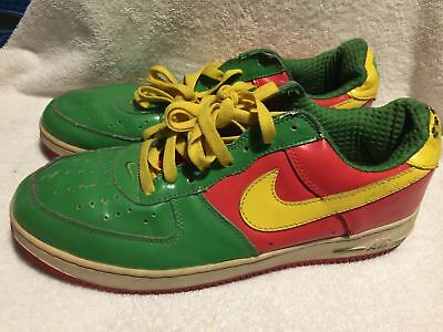 new style 88bfa 2fcbb Used/Worn Nike Air Force 1 Mens size 11 Athletic Shoes Green Orange Yellow