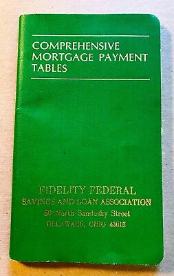 Mortgage Payment Book Fidelity S&L Delaware OH  1978