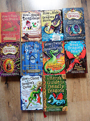How To Train Your Dragon 10 Book Collection Cressida Cowell Hardback Paperbacks