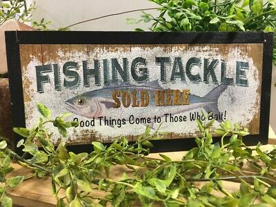 fishing tackle those who bait wooden cabin decor wall sign lake home signs