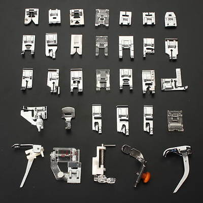 Sewing Machine Presser Foot Feet Kit Set For Brother Singer Janome