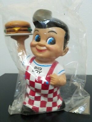 "Big Boy Restaurant Piggy Bank 8"", New in Plastic Bag"