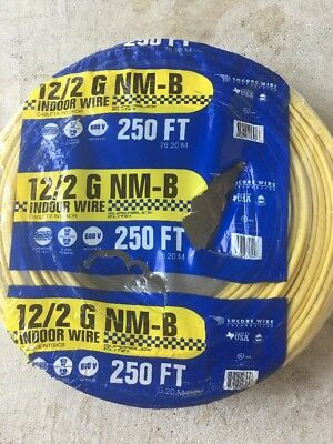 12-2 Electrical Construction Home Building Indoor Non Metallic Wire Roll 250 Ft