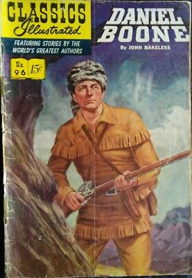 CLASSICS ILLUSTRATED #96 DANIEL BOONE - June 1952
