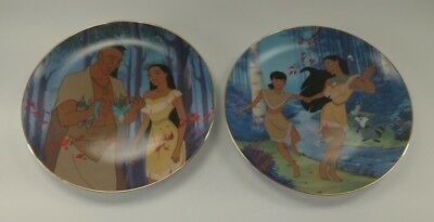 """Disney Collector Plates Lot of 2 Pocahontas ~""""Best of Friends"""" & """"Father's Love"""""""