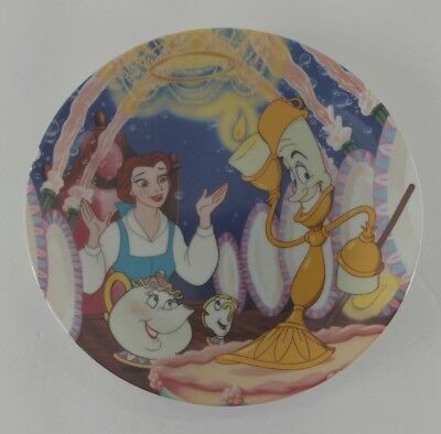 """Disney Collector Plates Beauty and the Beast Movie ~ """"Be Our Guest"""""""