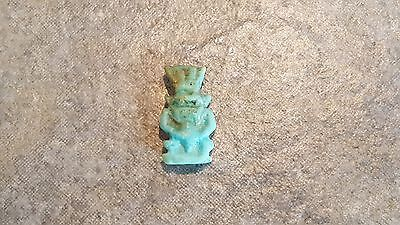 Ancient Egyptian Faience Amulet Of The God BES, Late Period 715 - 330 BC